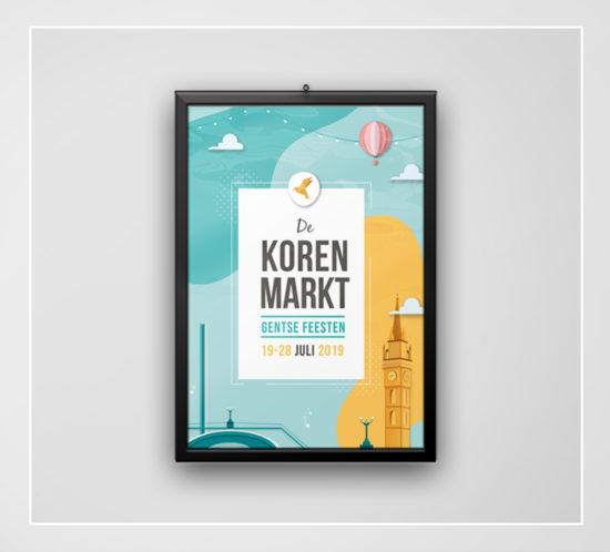 Huisstijl Korenmarkt Gentse Feesten_Glimpse